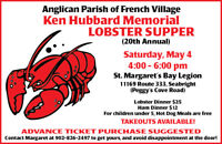 Church Supper • Lobster or Ham