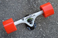Easy People Longboards 2 White Trucks Red Wheels,Spacer,ABEC-7