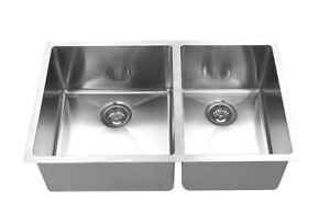 "Handmade u/m double bowl square sink 32""x19""x10"" for $269"