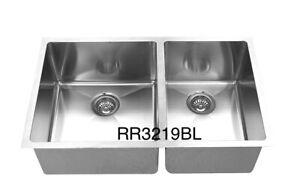 "Handmade u/m double bowl sink 32""x19""x10"" for $269, free grid!!"