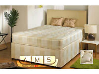 Brand New 4ft6 Double/Small Double Bed Base with 9inch Semi-Firm Deep Quilted Mattress (Orthopaedic)