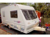 Lunar Ultralight 360 2 berth caravan with motor mover