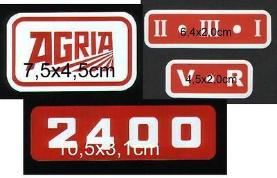 Agria 2400 Schaltschema Aufkleber  3 Gang  Deichsel-Schaltung 4 teilig