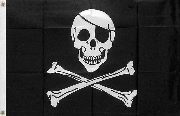 OUTBOUND The Jolly Roger Flag 5x3