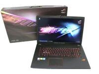 ASUS ROG i7 laptop 17.3 inch 16gb ram 1TB Hard Drive windows 10 full HD DVD web cam back lit keys