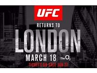 2 x Premium Lower Tier UFC tickets London 18th March. *BELOW FACE VALUE - COMPLETELY SOLD OUT*