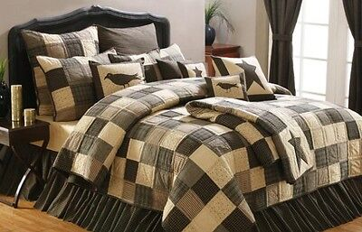 6PC KETTLE GROVE QUEEN QUILT BED SET/BEDDING PACKAGE By VHC BRANDS