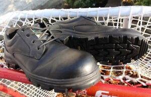 Leather Work Boots shoes Terra black safety size US 12 EU 47 SA