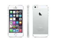 Iphone 5s silver on o2 16gb good condition