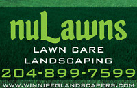 NULAWNS - LANDSCAPING & LAWN CARE - 204-899-7599