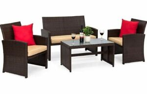 Beautiful 4 pc Patio furniture set available in 3 colors