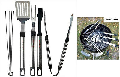 Brinkmann 8pc Stainless Steel BBQ Grill Set Barbecue Utensils Set Gift New