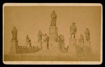 CDV FOTO ca 1870 WORMS MARTIN LUTHER-DENKMAL LUTHERDENKMAL MONUMENT db97