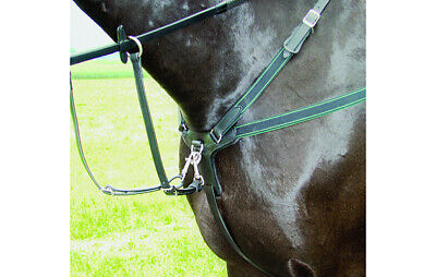 5 Point Competition Breastplate Real Sheepskin Luxury Leather High Performance