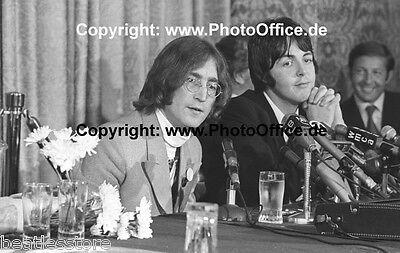 John Lennon & Paul McCartney New York 1968, seltenes 30x45cm Foto Poster Beatles