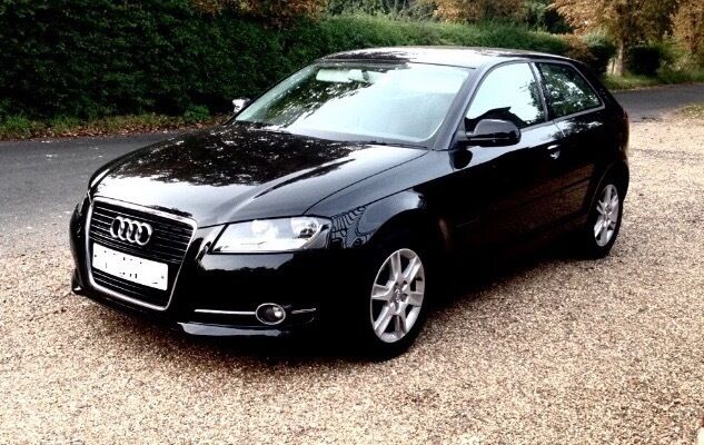 2011 audi a3 1 6 tdi se 3dr brilliant black 1 year mot 20 annual tax aux manual 1 6 in. Black Bedroom Furniture Sets. Home Design Ideas