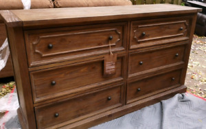 Nouveau Commode, New 6 Drawer Dresser Solid Wood