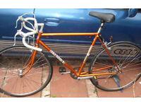 Lightweight 531 Classic1960's SUN Road Bike - Metal Orange Paint.Total Only11KG
