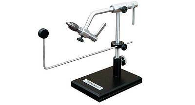 NEW DYNA KING TREKKER TRUE ROTARY FLY TYING VISE W/ PEDESTAL BASE 100 FREE HOOKS - Free Fly Tying