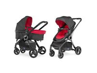 Chicco Urban Plus Stroller, With Colourpack And Autofix Car Seat, Red Passion