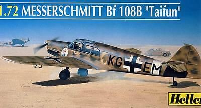 Heller Messerschmitt Me Bf 108 B 108B Taifun Bulgarie Modèle-kit 1:72 Kit