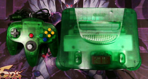 Nintendo 64 N64 Jungle Green.