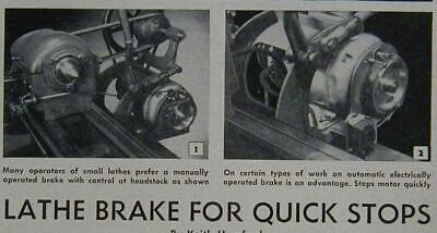 Metal Lathe Brake How-to Build Plans Manual Or Electric