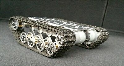 Robot Tank Chassis Metal Independent System Tracked Vehicle Robotics Diy Kit Us