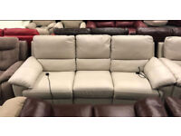 Leather electric recliner 3 and 2 seater sofas