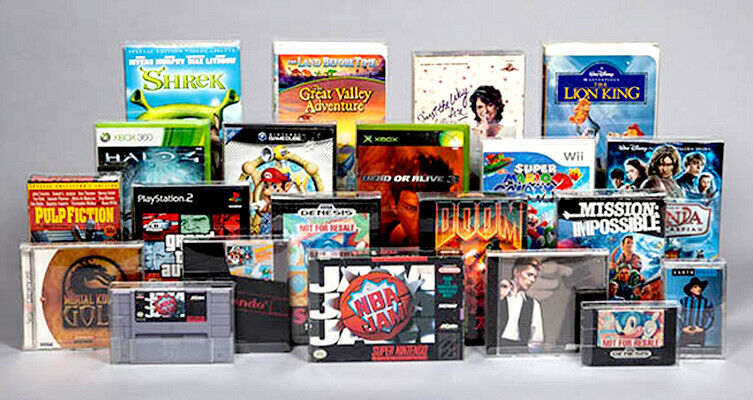 Computer Games - Video Game, PC Computer, Cartridge,Durable Clear Case, Sleeves & Box Protectors