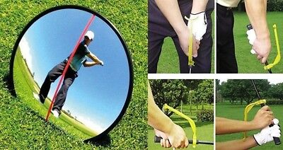 Golf Driving Range Swing Mirror with Golf Swing Wrist Lag Trainer