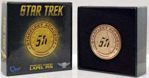 QMx STAR TREK TOS Official 50th ANNIVERSARY Starfleet Academy Lapel Pin
