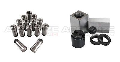 15 Pcs 18-1x16ths 5c Precision Round Collets W Collet Block Chuck 2250-0571