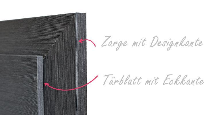 Abb.: Zarge mit Designkante & Türblatt mit Eckkante | Foto: © Zimmertüren OCHS