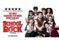 "2 x tickets ""School Of Rock"", New London Theatre - 06/04/2018, 7.30pm"