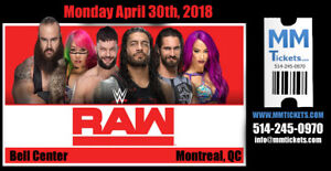 WWE MONDAY NIGHT RAW @ BELL CENTER, Montreal - APRIL 30 - REDS!!