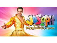 2 x Joseph and his amazing technicolour dream coat £30 each at Stockport Plaza, row B in the stalls.