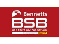 2 British Superbike Weekend Tickets