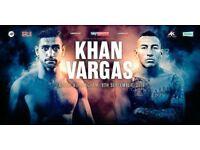 Amir Khan vs Samuel Vargas tickets available