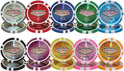 New Bulk Lot of 500 Las Vegas 14g Clay Casino Poker Chips - Pick Chips!