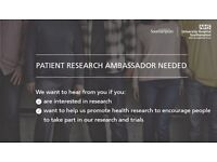 Research Ambassador needed - you'll be an advocate for the amazing research occurring in Southampton