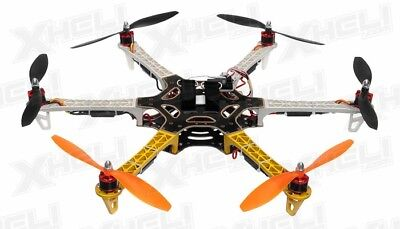 AeroSky 550 Drone 6 Channel Hexacopter On the brink of Ready to Fly (Yellow) RC Drone