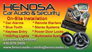 Remote Starter,Car Audio, Fog lights,OnSite Installation Service