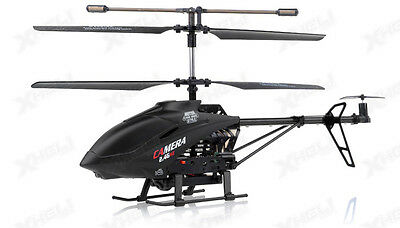 Udi U13a 3 Channel Rc Spy Helicopter 2 4Ghz With Video Camera Black New