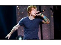 2 or 4 ED SHEERAN tickets for TONIGHT/SUNDAY - SEATS - MEN ARENA MANCHESTER £325 A PAIR