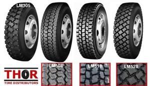 11R24.5 11R 24.5 11 R 22.5 DRIVE TRAILER & STEER TRUCK TIRES NEW - LONGMARCH - LOWEST PRICE IN THE COMOX AREA BUY DIRECT
