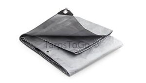 16x16 Silver Heavy Duty Tarps Triple Layer tarp 16 x 16 UV Treated Cover