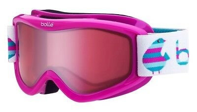 00fad955a48 New Bolle AMP youth ski goggles kids childs snowboard eye protection snow  Pink
