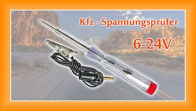 Spannungsprüfer KFZ Prüflampe Stromprüfer 6 / 12 / 24 V Messgerät  NEU!!