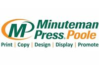 Customer Service & Copy/Print Production Specialist at Minuteman Press Printing, Poole
